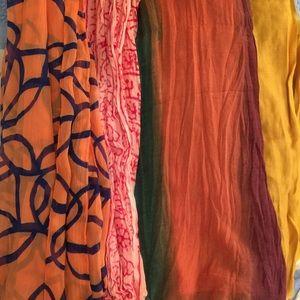 Accessories - Four Multicolor Bundle Scarves
